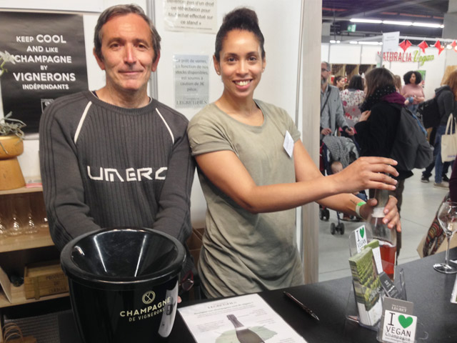 Champagne Legret au salon Veggie World Paris 2019 (c) Vegan France Interpro