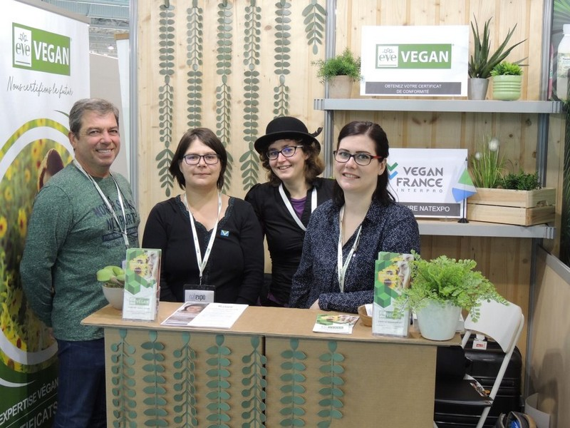 Equipe Vegan France Interpro - Natexpo 2019
