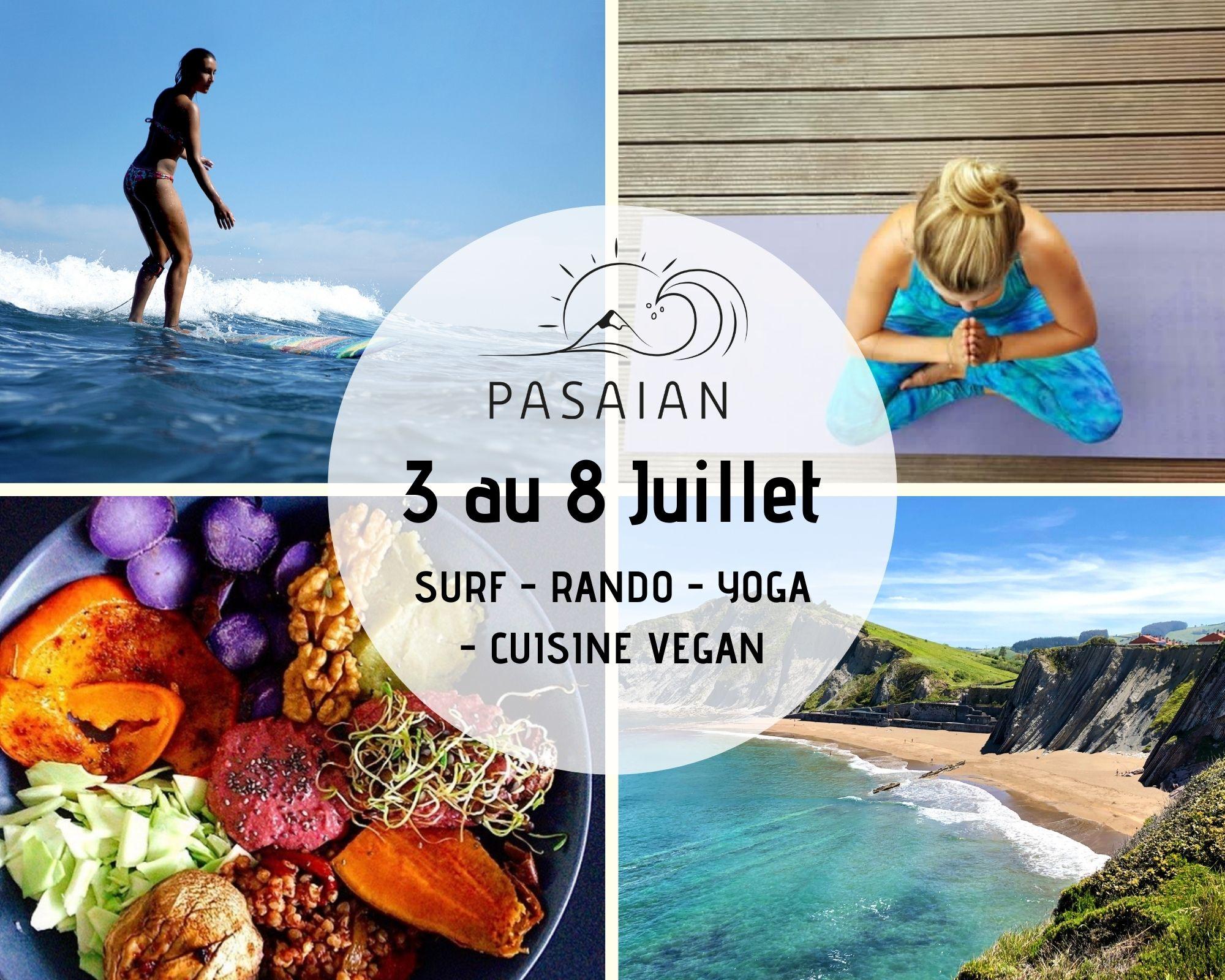 Séjour vegan, voyager au Pays Basque. Surf, randonnée, yoga, cours de cuisine vegan.